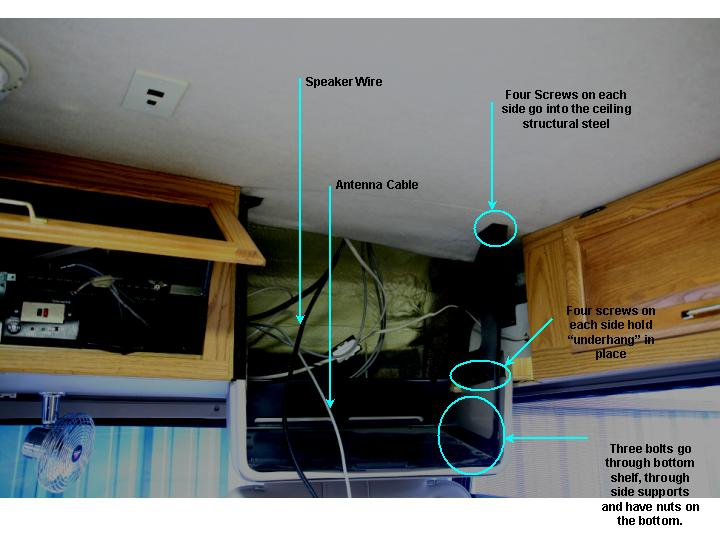 televison replacement 1999 winnebago adventurer rh grossie net Speaker Wiring Diagram tv speaker wiring diagram